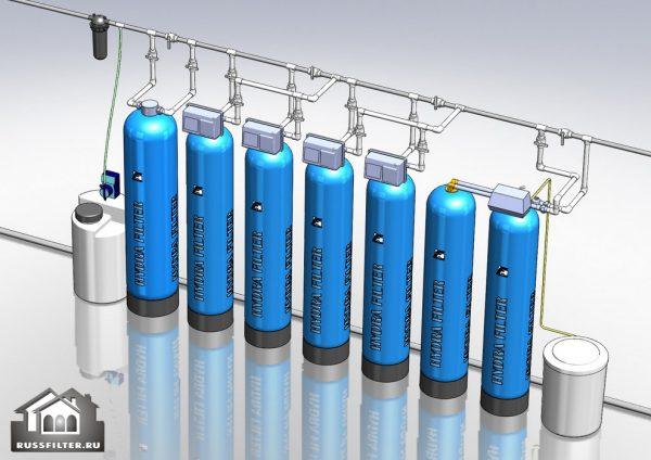 Водоподготовка для коттеджа #6.  Растворенное железо до 20 мг/л